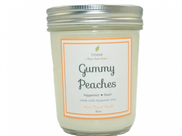 GUMMY PEACHES – Peppermint + Peach – BIG SIZE 325GR