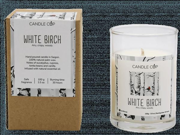 CANDLE CUP - Nến thơm thiên nhiên - WHITE BIRCH - 100GR