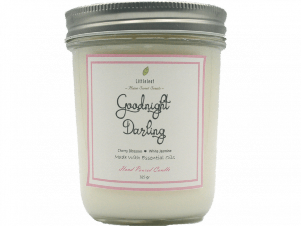 GOODNIGHT DARLING – Cherry Blossom + White Jasmine – BIG SIZE 325GR