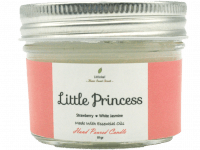 SCENTED CANDLE - LITTLE PRINCESS – Strawberry + White Jasmine – TRAVEL SIZE 81GR