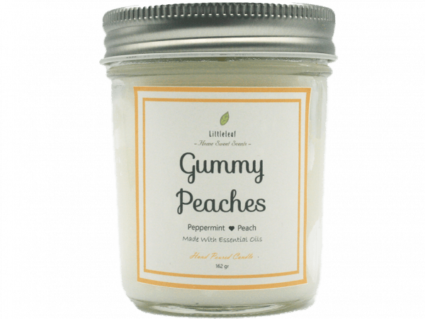 GUMMY PEACHES – Peppermint + Peach – MEDIUM SIZE 162GR