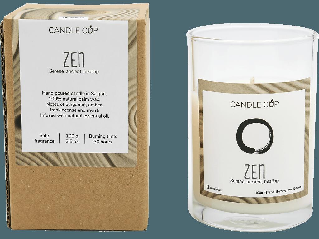 CANDLE CUP - Nến thơm thiên nhiên - ZEN - 100GR