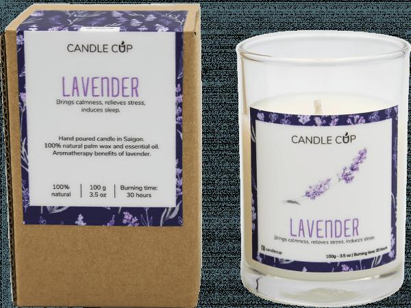CANDLE CUP - Nến thơm thiên nhiên - LAVENDER - 100GR