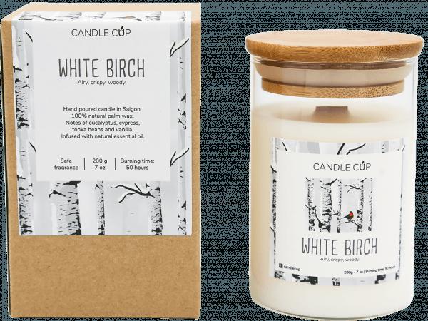 CANDLE CUP - Nến thơm thiên nhiên - WHITE BIRCH - 200GR