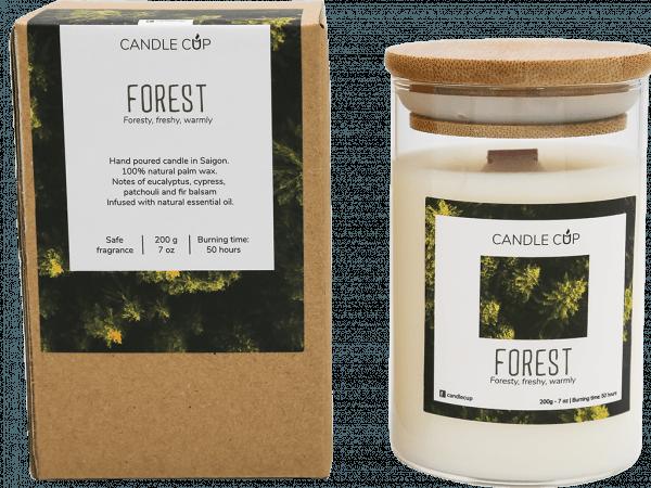 CANDLE CUP - Nến thơm thiên nhiên - FOREST - 200GR