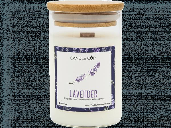 CANDLE CUP - Nến thơm thiên nhiên - LAVENDER - 200GR
