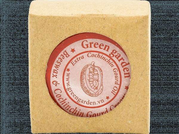 GREEN GARDEN - Cream Dầu dừa - Tinh dầu Gấc - 20GR