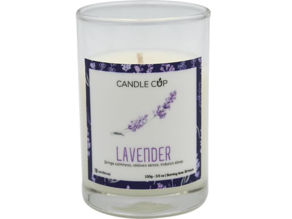 Candle Cup Scented Candle Lavender 100gr