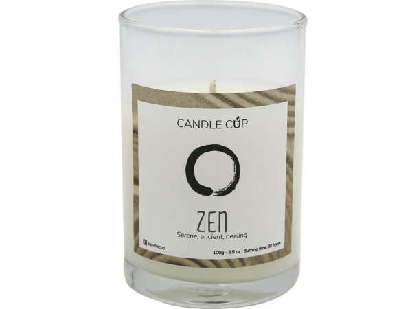 Candle Cup Scented Candle Zen 100gr