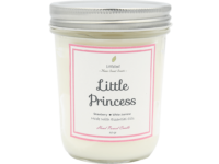 SCENTED CANDLE - LITTLE PRINCESS – Strawberry + White Jasmine – BIG SIZE 325GR